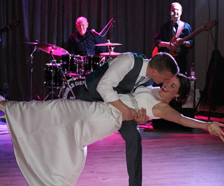 Grooverobbers perform at wedding Lusty Beg Island, Enniskillen